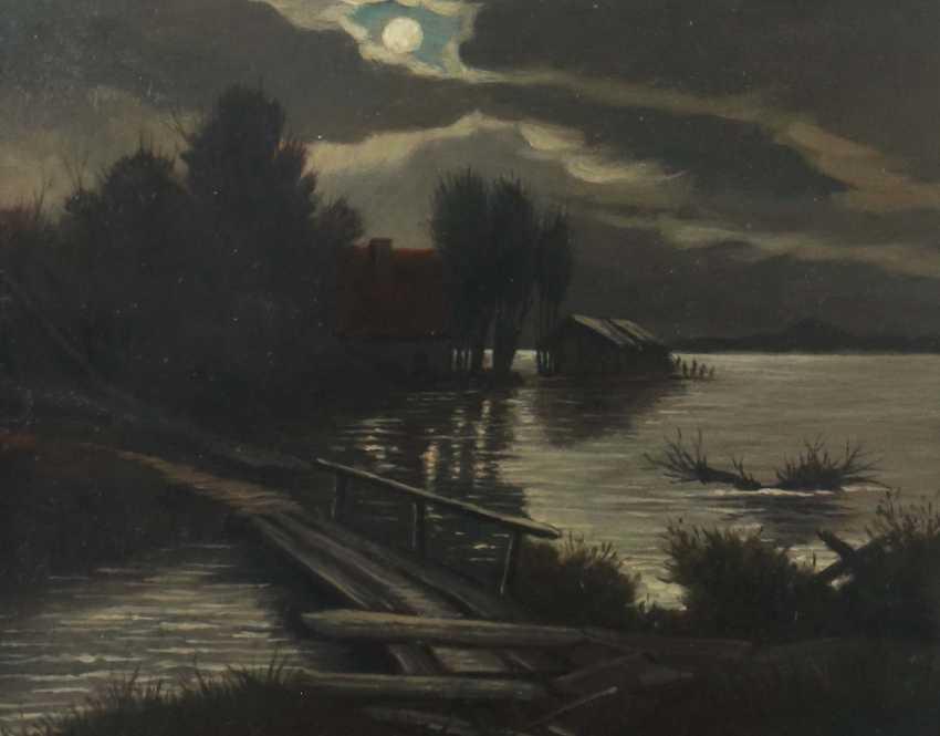 "Landscape painter of the 20th century. Century, ""landscape in moonlight"" - photo 1"