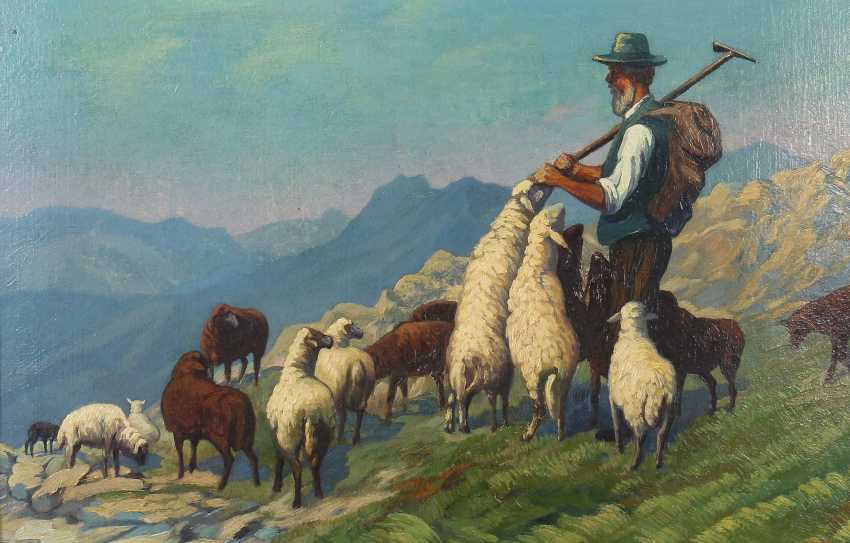 "Painters of the 20th century. Century ""the shepherd in the mountain landscape"" - photo 1"