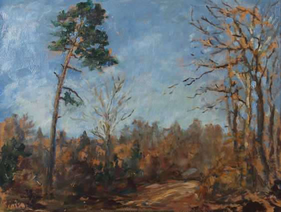 """Painters of the 20th century. Century, """"Forest Landscape"""" - photo 1"""