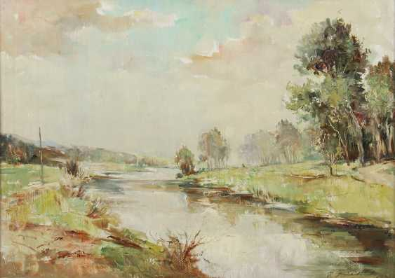 "Landscape painter of the 20th century. Century, ""The River"" - photo 1"