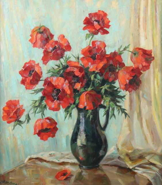 "Flower painter of the 20th century. Century ""Poppies"" - photo 1"