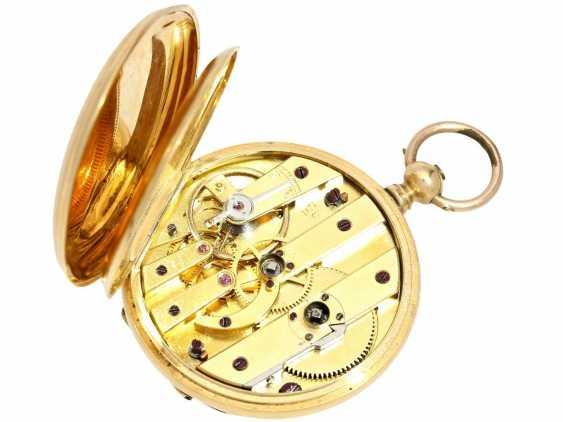 Taschenuhr: Damen-Prunksavonnette, um 1870, Ducommun-Sandoz & Cie. La Chaux-de-Fonds, 18K Gold - photo 3
