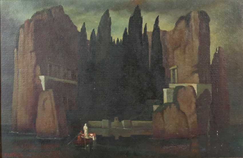 """The painter/scribe of 20. Century, """"The Isle Of The Dead"""" - photo 1"""