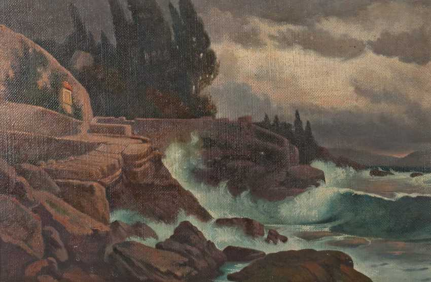 "The painter/scribe of 20. Century ""Stormy Coastal Landscape"" - photo 1"