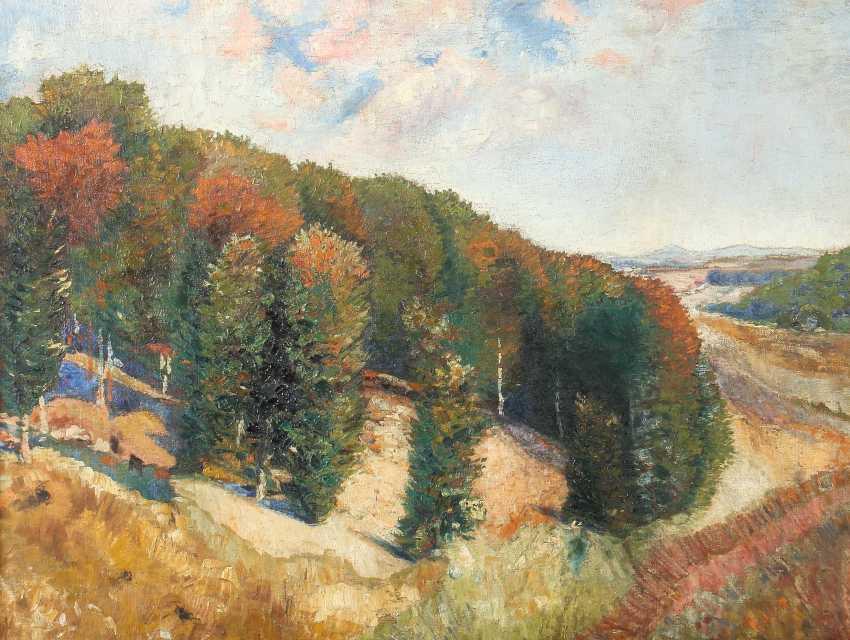 "Painters of the 20th century. Century, ""Autumn Landscape"" - photo 1"