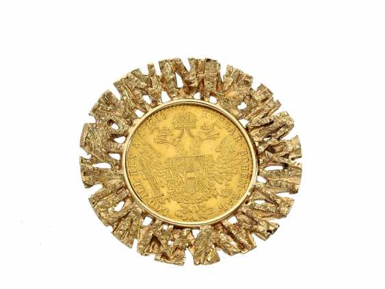 Brooch/pendant: vintage coin brooch, with 1 Ducat, Austria, 1915 - photo 1
