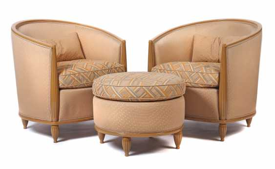 Pair of arm chair + Ottoman in Art Deco style Germany - photo 1