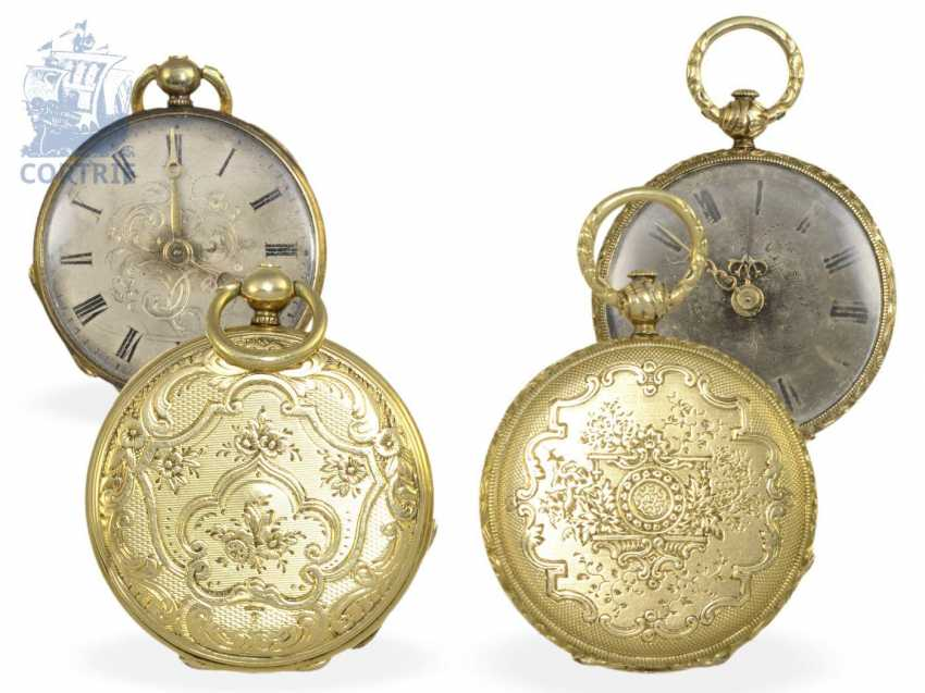 Pocket watch/pendant watch: pair of rare Lepines, miniature sizes, Robert Brandt & Muller, Switzerland ca. 1830/1840, formerly nobleman's possession - photo 1