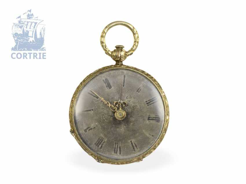 Pocket watch/pendant watch: pair of rare Lepines, miniature sizes, Robert Brandt & Muller, Switzerland ca. 1830/1840, formerly nobleman's possession - photo 2