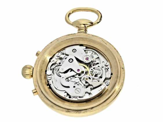 Pocket watch: complicated pocket watch with Chronograph, date and moon-phase, Switzerland, around 1960 - photo 2