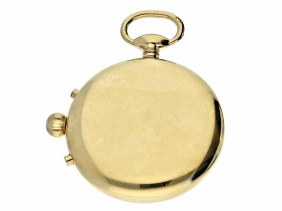Pocket watch: complicated pocket watch with Chronograph, date and moon-phase, Switzerland, around 1960 - photo 3