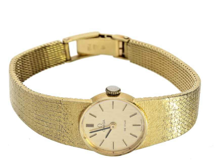 Wrist watch: high quality vintage ladies watch, Omega De Ville in 18K yellow gold, including original box - photo 1