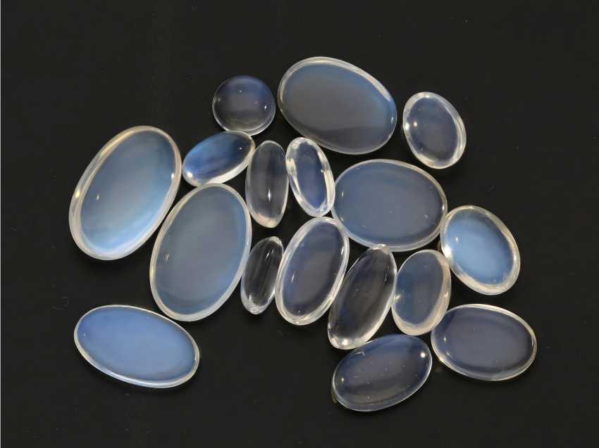 Stones: mixed lot of blue moonstones, origin Sri Lanka - photo 1