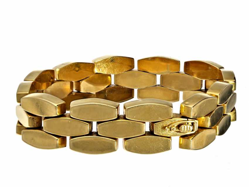Bracelet: attractive vintage wrought gold bracelet, 18K Gold - photo 2