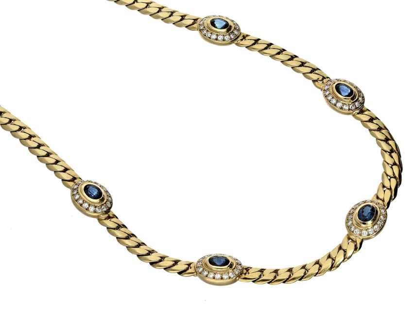 Chain: the massive, and formerly very expensive sapphire/diamond gold necklace - photo 1