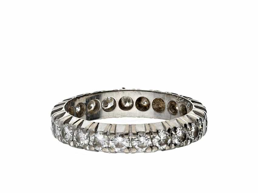 Ring: fine, white Golden Eternity Ring with brilliant-cut diamonds, 1,42 ct of high-quality, brand-name jewellery by Christian Bauer - photo 1