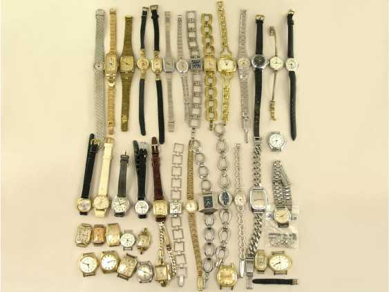 Watch: large mixed lot of vintage ladies watches, 50s/80s - photo 1