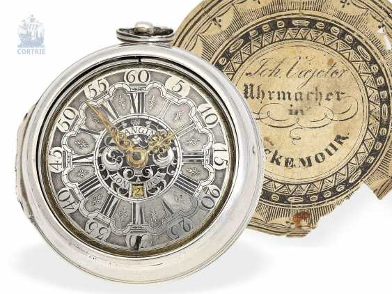 Pocket watch: English paircase verge watch with date, signed Langin London, ca. 1740 - photo 1