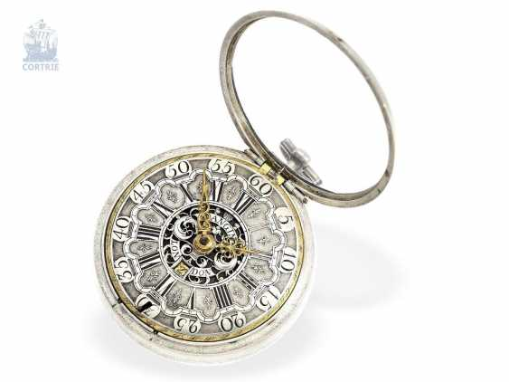 Pocket watch: English paircase verge watch with date, signed Langin London, ca. 1740 - photo 2