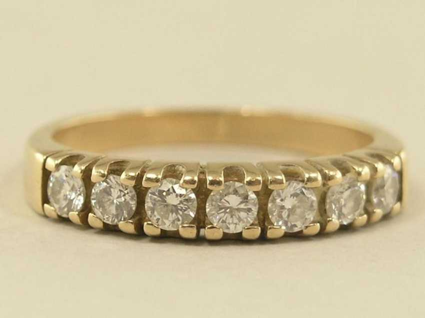 Ring: vintage Halb-Memoire-Ring mit Brillanten - photo 1