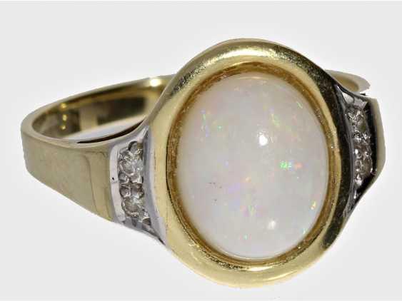 Ring: vintage Opal/Diamant-Goldschmiedering - photo 1