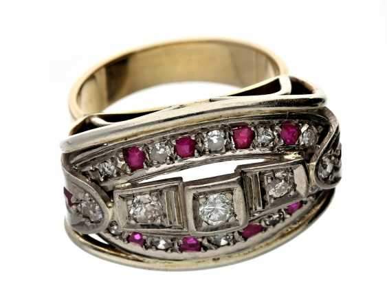 Ring: sehr massiver Rubin/Brillantring, ca. 1950 - photo 2
