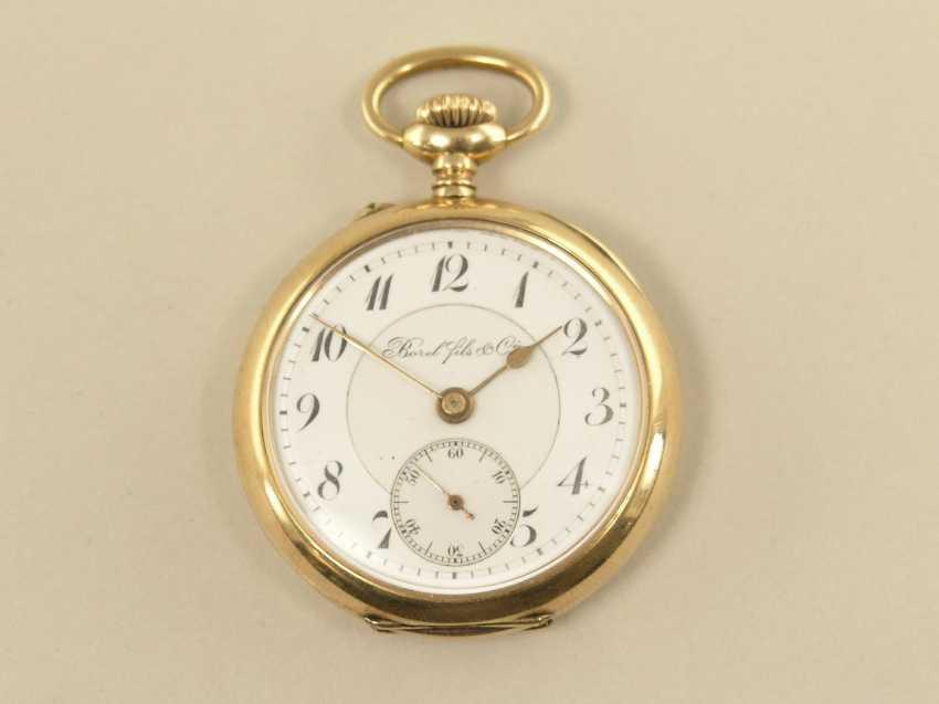 Pocket watch: very fine women's watch with high quality gold case, Borel Fils & Cie, circa 1900 - photo 1