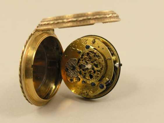Pocket watch: fine Gold/enamel Spindeluhr, Le Roy, Paris, No. 749, around 1780 - photo 3