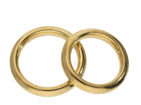 Ring: like-new, high-quality and massive wedding rings made of 18K Gold - photo 1