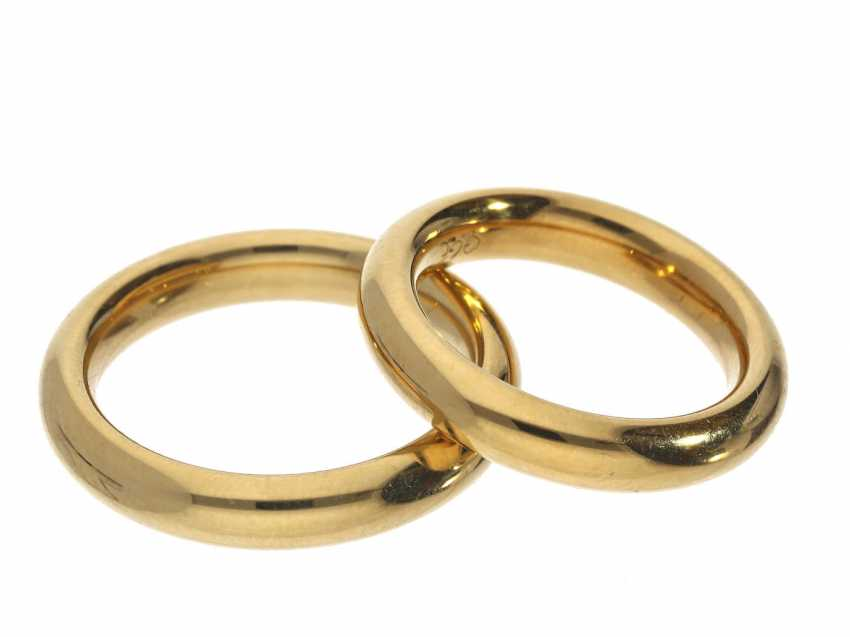 Rings: very solid, high quality wedding rings in 18K yellow gold - photo 1