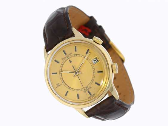 Watch: Le Coultre, rare Jaeger LeCoultre Automatic Memovox Jumbo 37mm in 18K yellow Gold, 60's years - photo 1