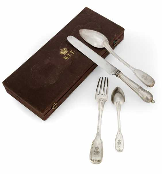 Travel Cutlery in a case with a Princely monogram - photo 1