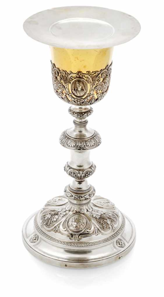Chalice, with paten and case - photo 1
