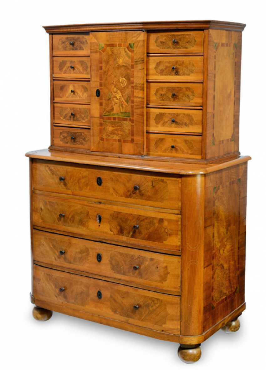 Baroque chest of drawers with the tabernacle essay - photo 1