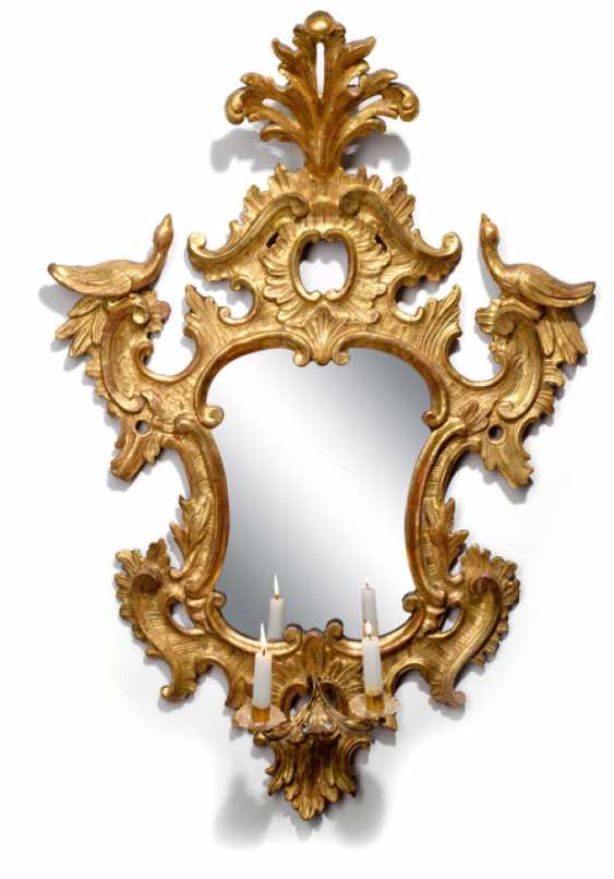 Pair Of Rococo Mirrors, Appliques - photo 1