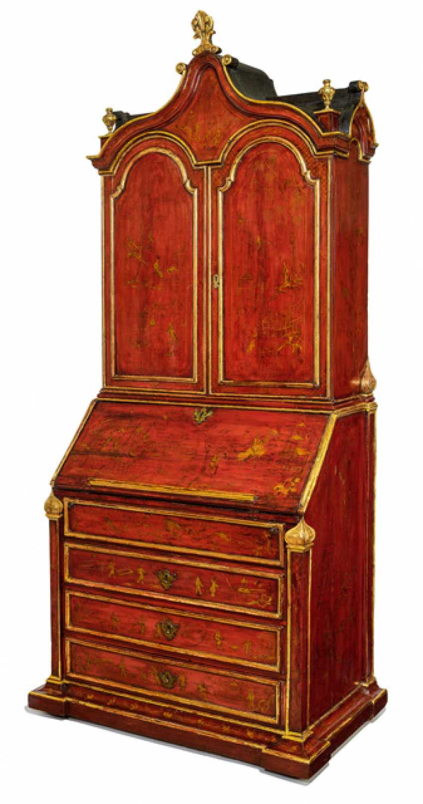 A magnificent writing Desk with chinoisem paint decoration - photo 1