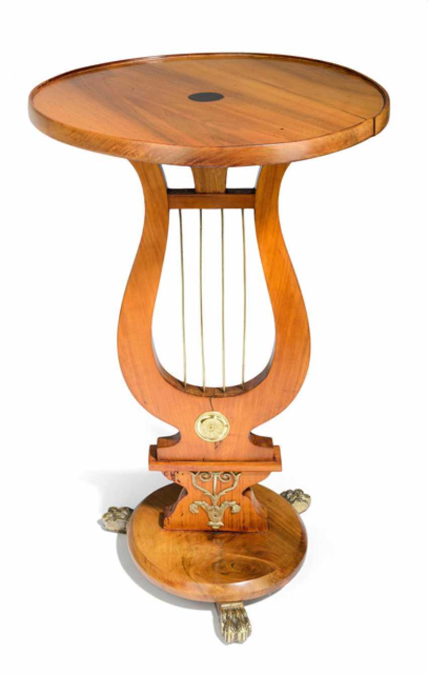 Biedermeier Style Lyre Side Table - photo 1