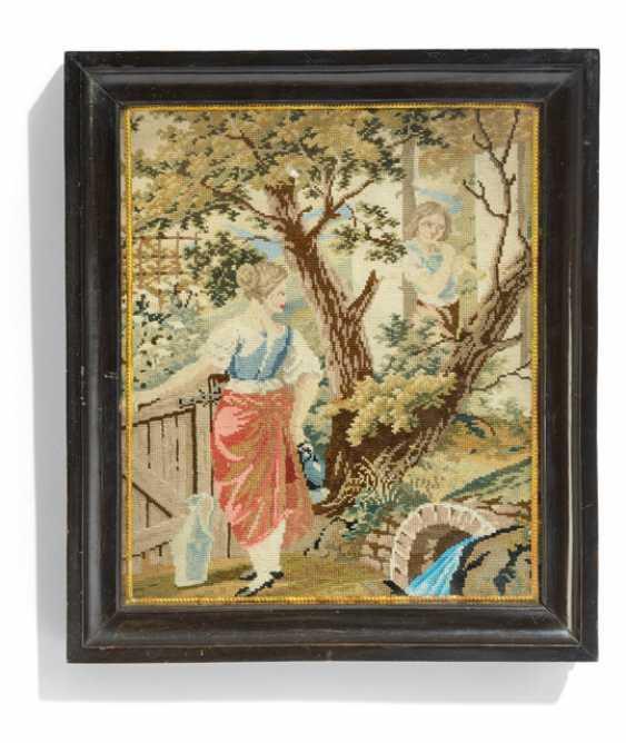Key box with Gobelin-embroidery - photo 1