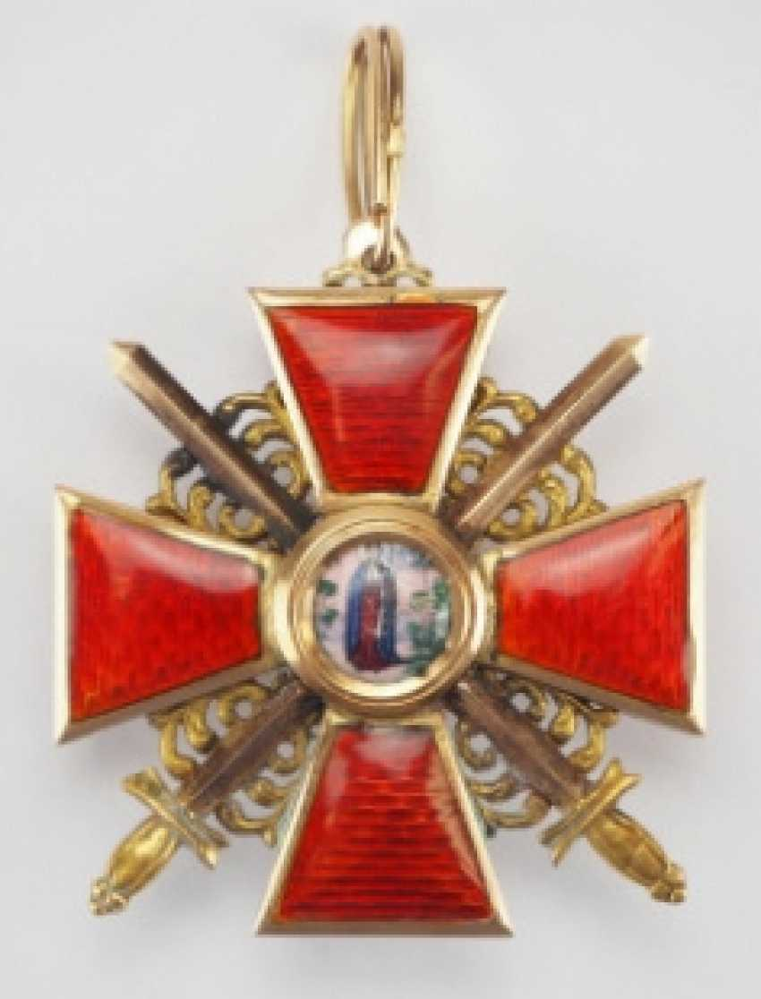 Russia: order of the hl. Anna, 2. Model (1810-1917), 3. Class with swords - photo 1