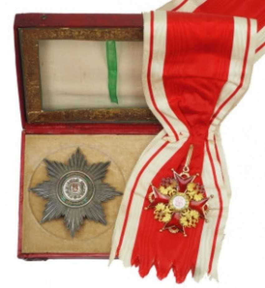 Russia: Imperial and Royal order of Saint Stanislaus, 2. Model, 2. Type (approx. 1841-1917), 1. Class set, in a case