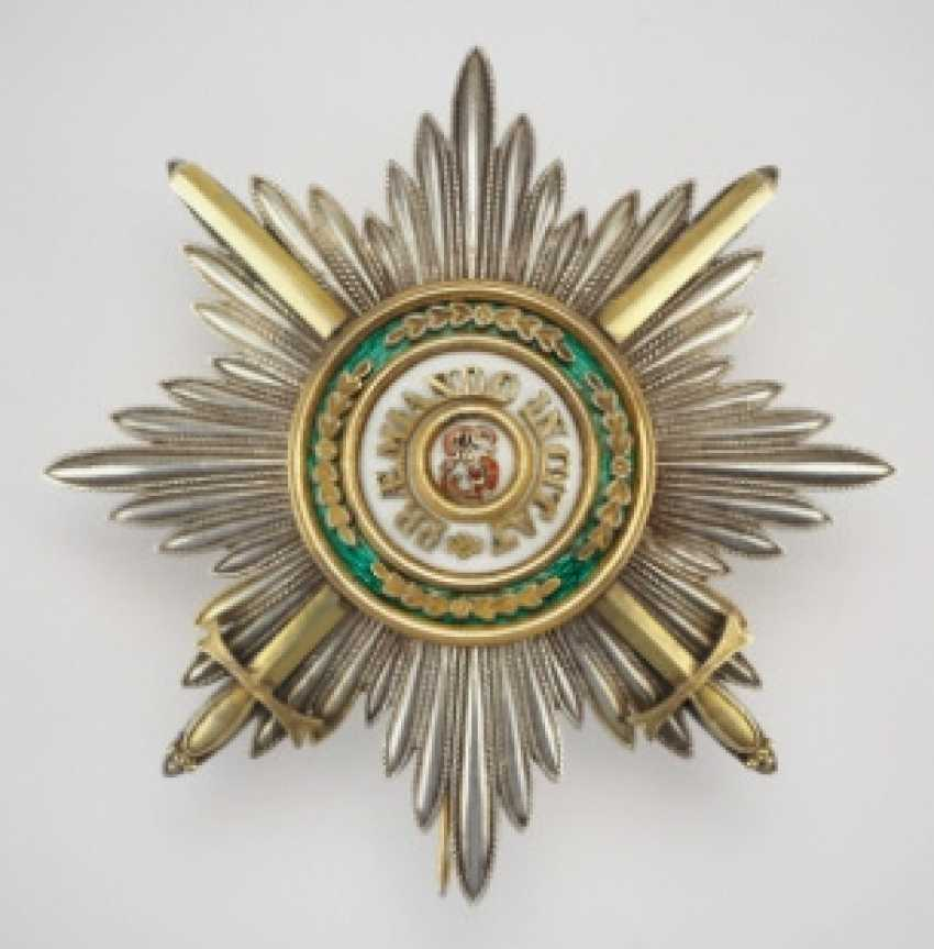 Russia: Imperial and Royal order of Saint Stanislaus, 2. Model, 2. Type (approx. 1841-1917), breast star of the 1. Class with swords - photo 1