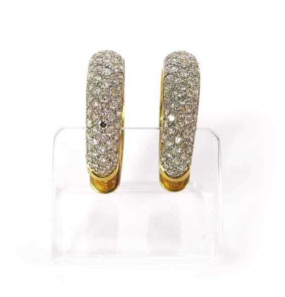 PAIR of DIAMOND Hoop EARRINGS, 750Gelbgold - photo 1