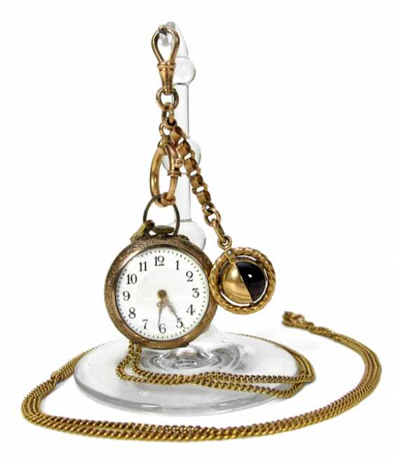 LADIES POCKET WATCH WITH CHATELAINE - photo 1