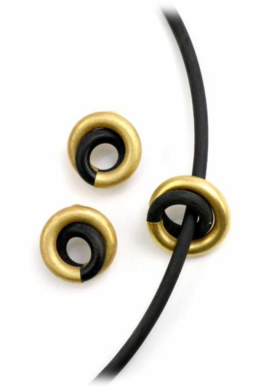 PENDANT+PAIR EARRINGS, 750Gelbgold - photo 1