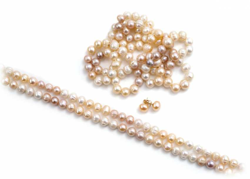 2 FRESHWATER-CULTURED PEARLS CHAINS - photo 1