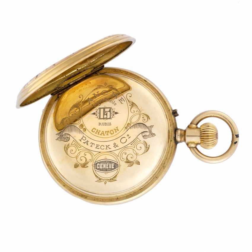 PATEK & Co: Orologio da tasca in oro 18K decorato con miniatura bucolica in smalti policromi, savonnette - photo 4