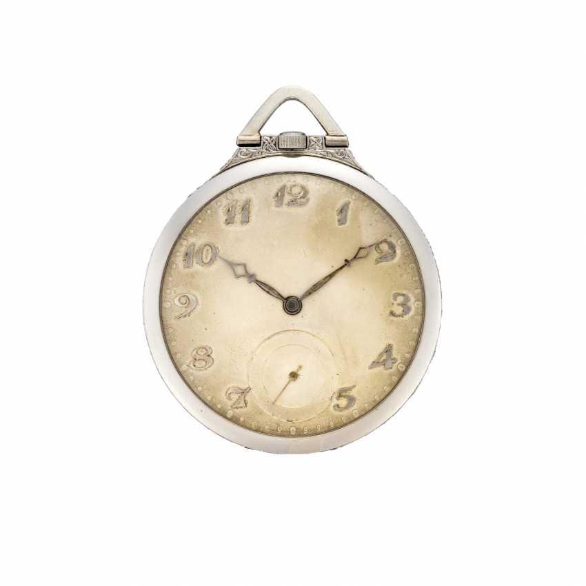 ANONIMO: Orologio da tasca in platino rifinito con diamanti - photo 1