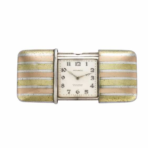 MOVADO ERMETO: Orologio da tasca in argento con cassa a tre colori - photo 1