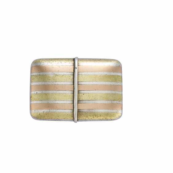 MOVADO ERMETO: Orologio da tasca in argento con cassa a tre colori - photo 2