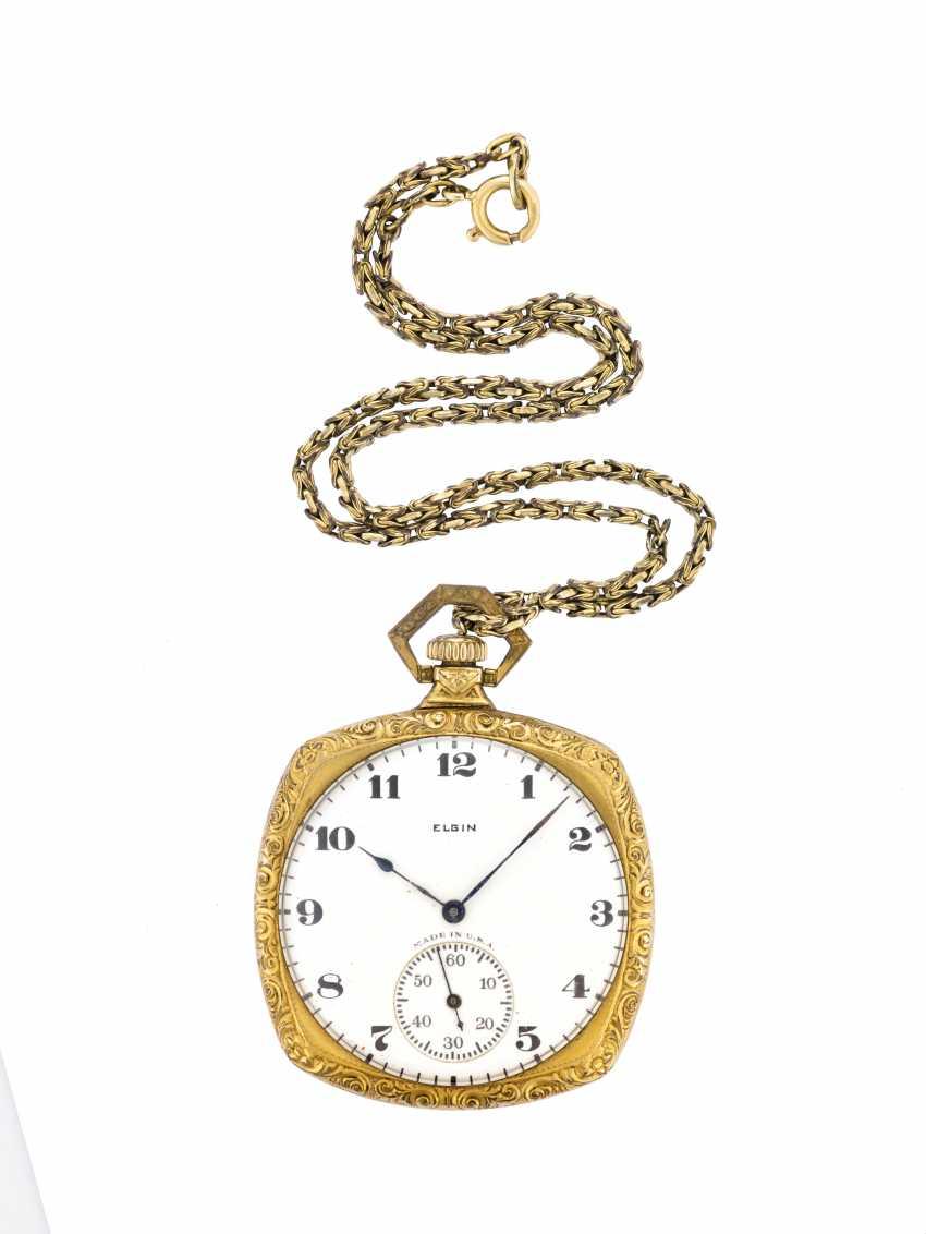 ELGIN: Orologio da tasca metallo, con catena in oro 9K - photo 1